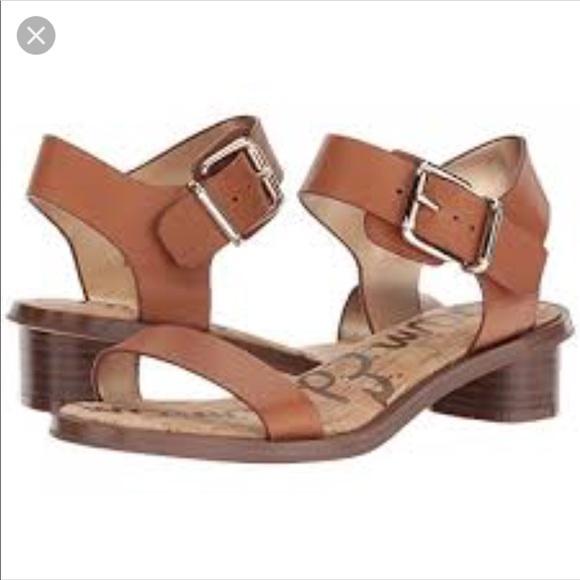 b104f5ab2 Sam Edelman Trina Block Heel Sandal Saddle Leather.  M 5b34f9c06a0bb7c46f7a4295